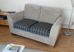 Seat Cushions to contrast in pattern on the sofa